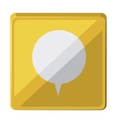 speech bubble isolated icon design vector image