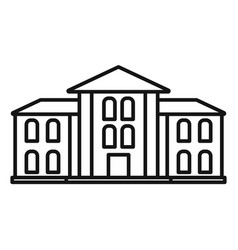 supreme courthouse icon outline style vector image