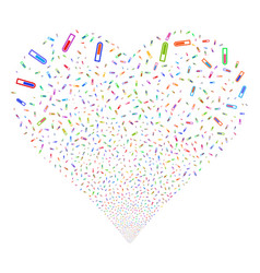 test tube fireworks heart vector image