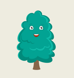 the tree cartoon character vector image
