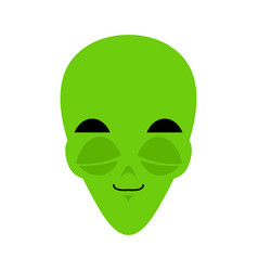 ufo sleeping emoji green alien face asleep vector image