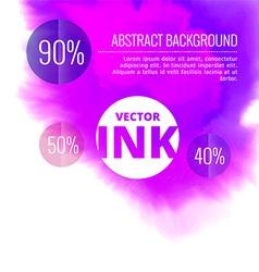 Water ink splash burst in purple color vector
