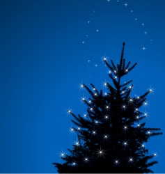 Winter background christmas tree illustrate vector