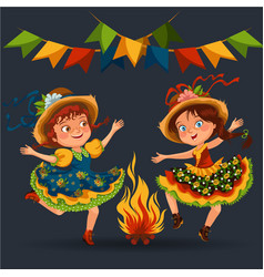 young woman dancing salsa on festivals celebrated vector image