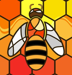 abstract background bee vector image vector image