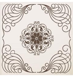 border vintage frame with ornament vector image