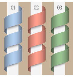 Colored numbered ribbons banners vector image vector image