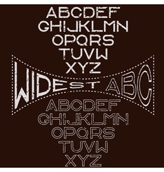 Grunge retro wide alphabet for labels vector image vector image