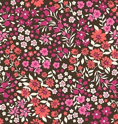 Little ditsy flowers - seamless background vector image vector image