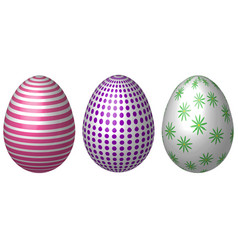 set vintage easter eggs easter eggs vector image