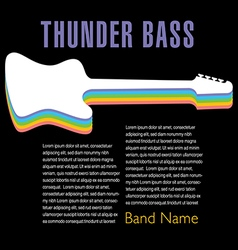 Thunder Bass colorful artwork vector image vector image
