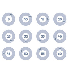 Timer icons set stopwatch icons vector