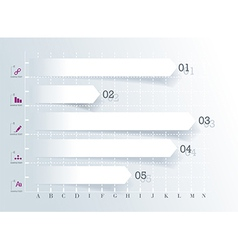 Conceptual Design template infographics element vector image vector image