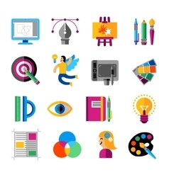 Creative Designer Icons Set vector image vector image