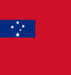 flag in colors of samoa image vector image vector image