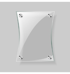 Glass rectangle plane vector image vector image