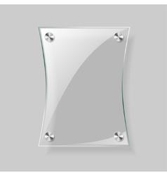 Glass rectangle plane vector image