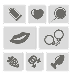 icons with sex symbols vector image vector image