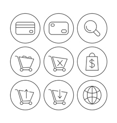 online shoppin icons vector image