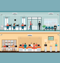 public access to financial services to banks vector image vector image