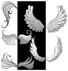artistically contoured wings vector image vector image