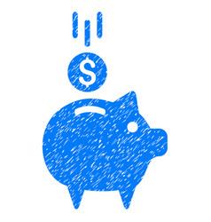 deposit piggy bank icon grunge watermark vector image vector image