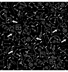 Different Arrows Seamless Pattern vector image vector image