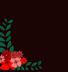 greeting card flowers can be used as invitation vector image vector image
