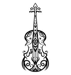 hand drawn cello sketch symbol violin vector image