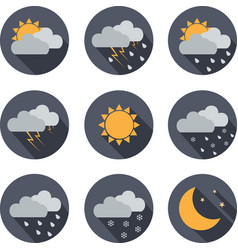 weather icons flat design vector image