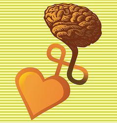 connection between heart and brain vector image