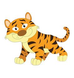 Cute orange and brown tiger vector