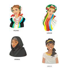 digital funny cartoon arabian vector image
