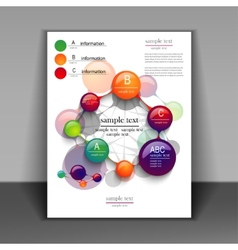 flyer layout with elements of infographics vector image vector image