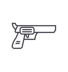 revolver pistol line icon sign vector image vector image