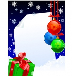 winter decoration vector image vector image
