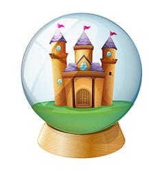 A castle inside crystal ball vector