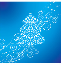 Abstract blue christmas tree vector