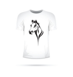 abstract horses head t-shirt vector image