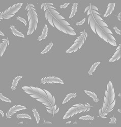 abstract seamless pattern white feathers vector image
