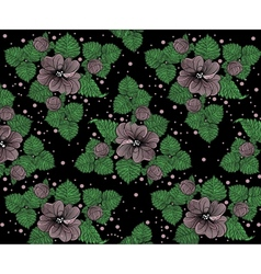 Background pattern from violet flowers on the vector image