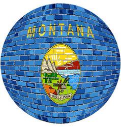 Ball with montana flag vector