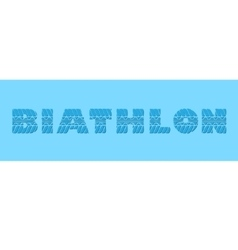 Biathlon blue banner vector