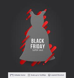 black friday clothing fashion sale vector image