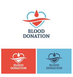 blood donation logo design template vector image