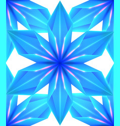 blue seamless ice texture of snowflakes on white vector image