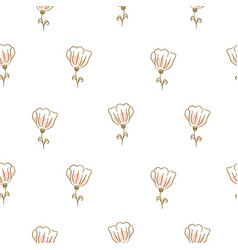 botanical flowers seamless pattern for vector image