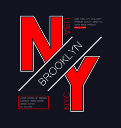 brooklyn ny modern typography vector image