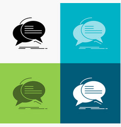 bubble chat communication speech talk icon over vector image
