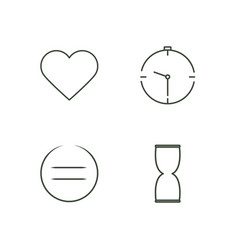 Business outline icons set vector